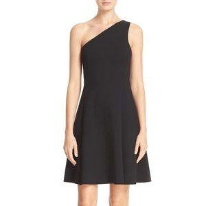 Theory Leainna Size Small One-Shoulder Black Dress